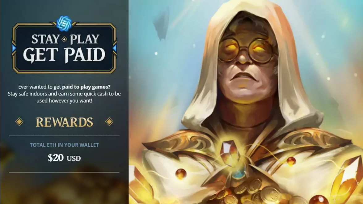 Gods Unchained gives $20 in ETH for every player